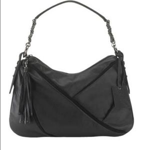 Cole Haan Maria Sharapova black leather suede bag